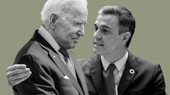 Montaje de Joe Biden y Pedro Sánchez