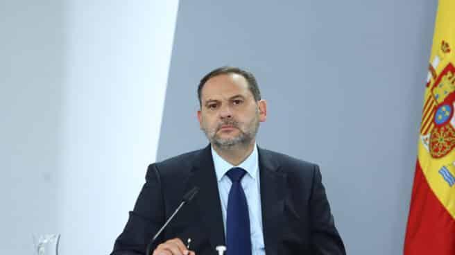 El ministro de Transportes, Movilidad y Agenda Urbana, José Luis Ábalos,