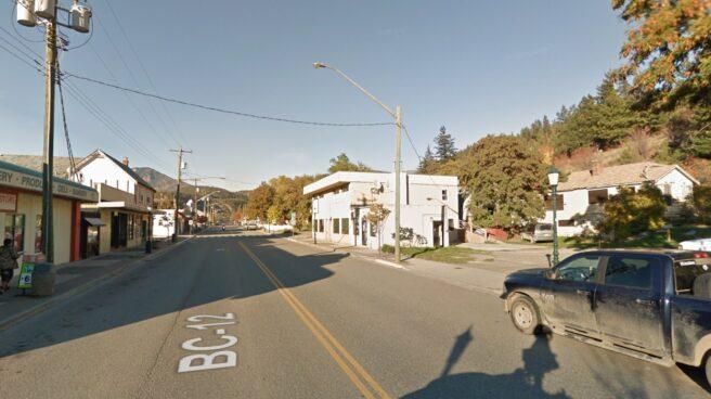 Calle principal de Lytton, Canadá, donde se han registrado temperaturas de hasta 49,6 grados.
