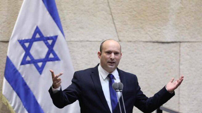 Naftali Bennett, durante su discurso de investidura.