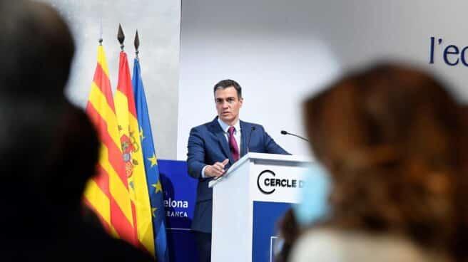 Pedro Sánchez, en el Cercle de Economía de Barcelona.
