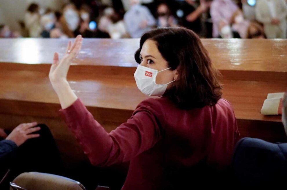 La presidenta de la Comunidad de Madrid, Isabel Díaz Ayuso, en el concierto de Plácido Domingo.