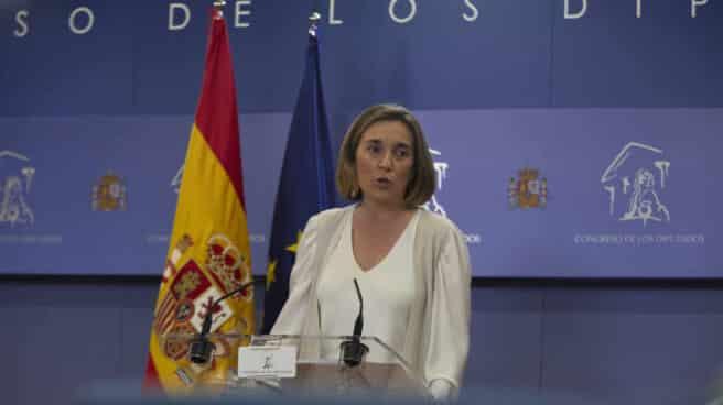La portavoz del Grupo Parlamentario Popular en el Congreso, Cuca Gamarra.