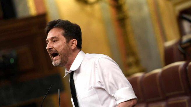 El diputado de Podemos, Rafael Mayoral, en el Congreso de los Diputados.