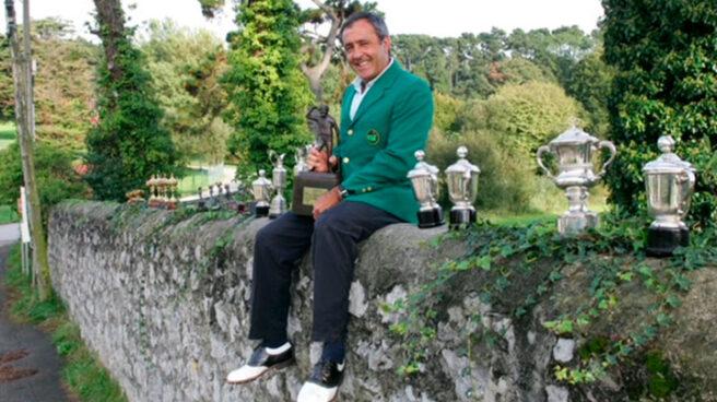 Severiano Ballesteros, con la chaqueta verde de Augusta.