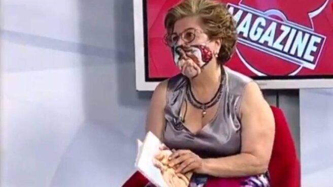 La poeta Sonsoles Soto Mories, durante su intervención en la Televisión de Castilla y León.
