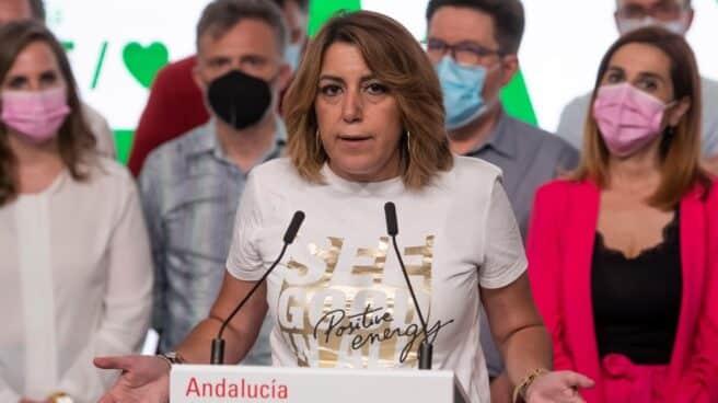 Susana Díaz, tras su derrota en las primarias del PSOE de Andalucía.