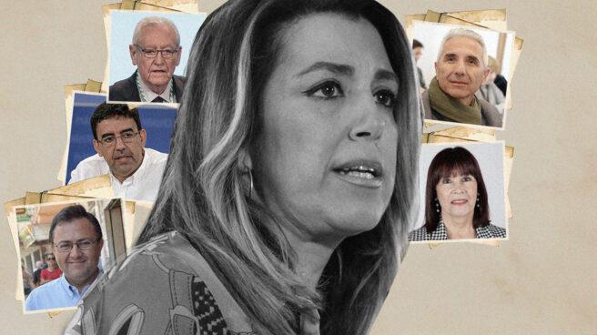 Imagen de Suasana Díaz con Rafael Escuredo, Mario Jiménez, Micaela Navarro y los dos Miguel Ángeles