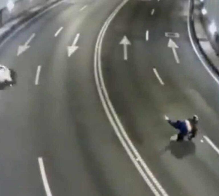 El impactante vídeo de los accidentes en un túnel de A Coruña