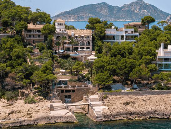 Villa con acceso directo al mar en Puerto de Andratx