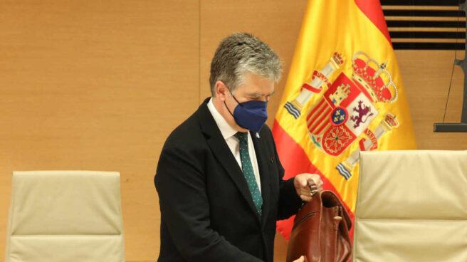 El ex director general de la Policía Ignacio Cosidó, este martes en el Congreso.