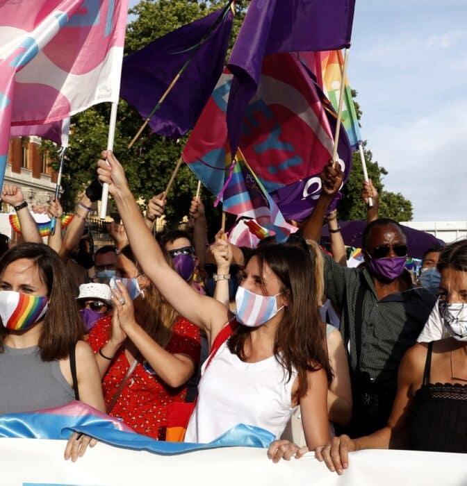 """Irene Montero, en el Orgullo LGTBI: """"Estamos del lado correcto de la historia"""""""