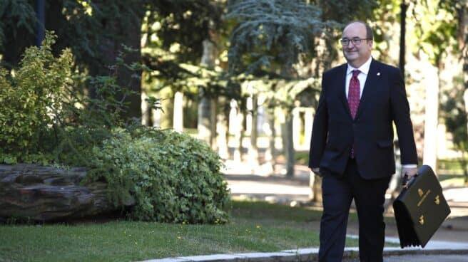 El ministro de Cultura y Deporte, Miquel Iceta, a su llegada al Palacio de la Moncloa.