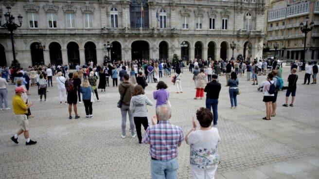 Concentración tras el asesinato de Samuel en A Coruña.