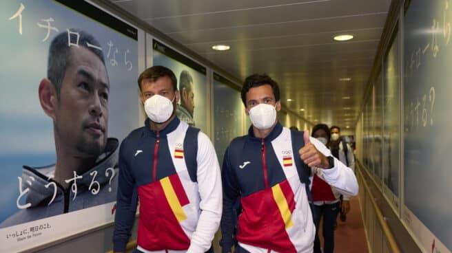 Llegada de los olímpicos españoles a Tokio
