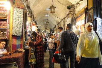 Un bazar de Alepo, en 2010