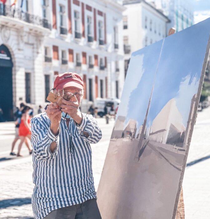 """La Puerta del Sol definitiva de Antonio López: """"Me prometí acabarlo, es una fijación"""""""