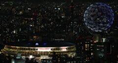 Drones en el cielo de Tokio para el momento más espectacular de la inauguración