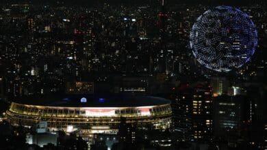 Drones en el cielo de Tokio: el momento más espectacular de la inauguración de los Juegos Olímpicos