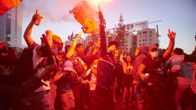 Los chilenos celebran el resultado del referéndum sobre la Constitución