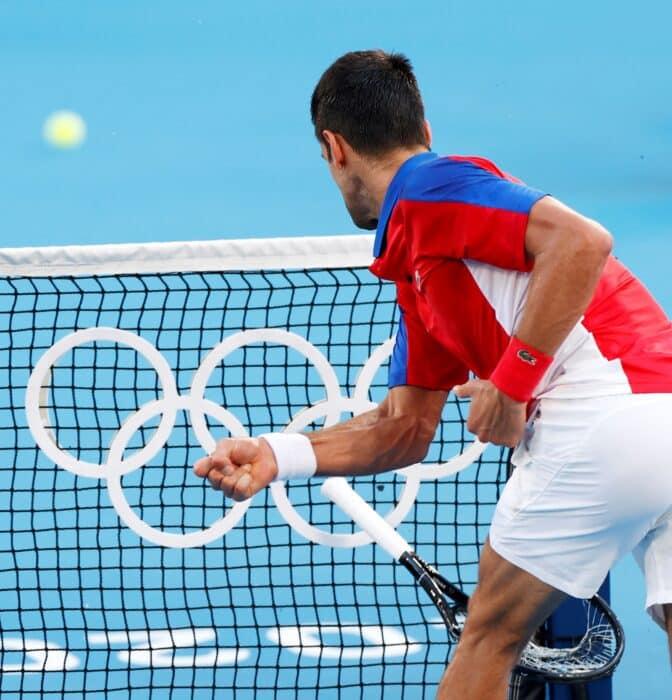 El papelón olímpico de Novak Djokovic