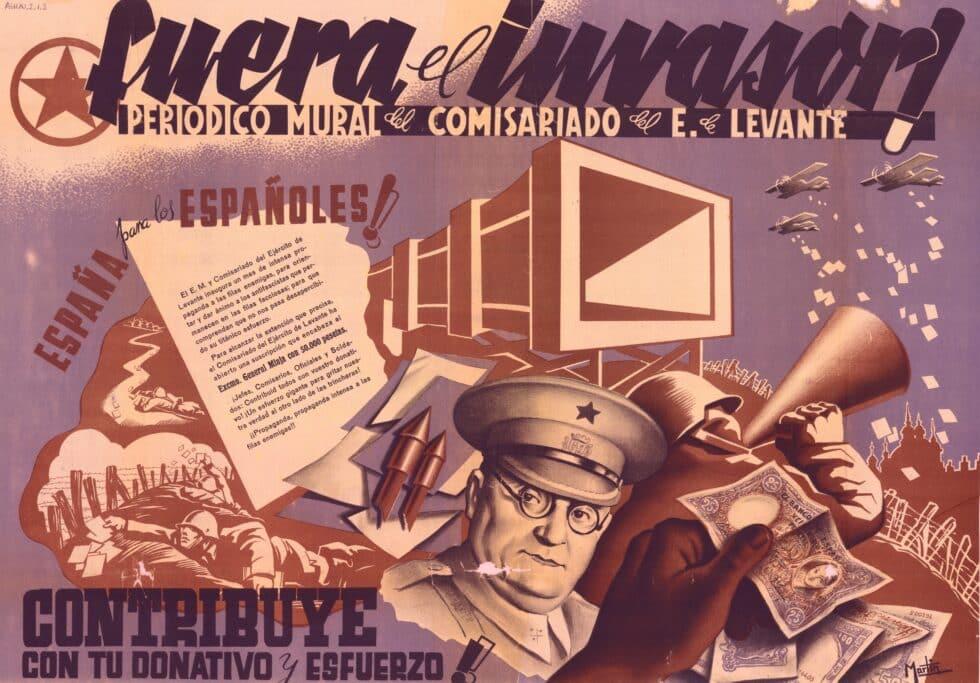 Periódico mural del Comisariado del Ejército de Levante.