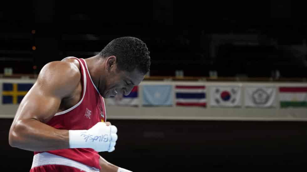 Enmanuel Reyes, tras ganar su primer combate en los Juegos de Tokio