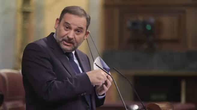 José Luis Ábalos interviene en el Congreso de los Diputados.