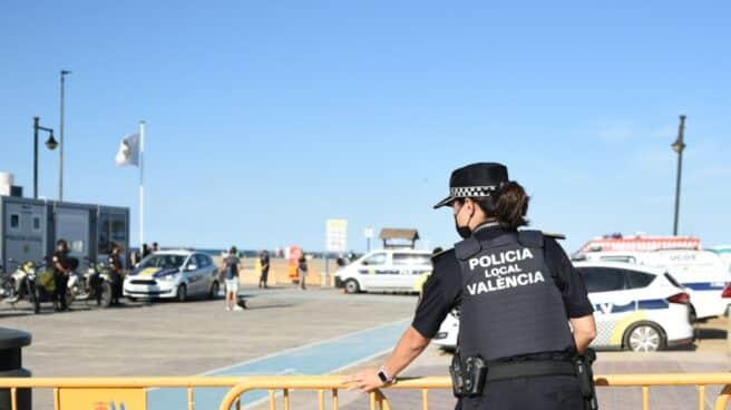 Una agente de la Policía Local de Valencia.