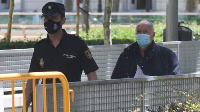 José Luis Moreno a su salida de la Audiencia Nacional