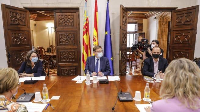 Mónica Oltra y Ximo Puig, vicepresidenta y presidente de la Comunidad de Valencia.