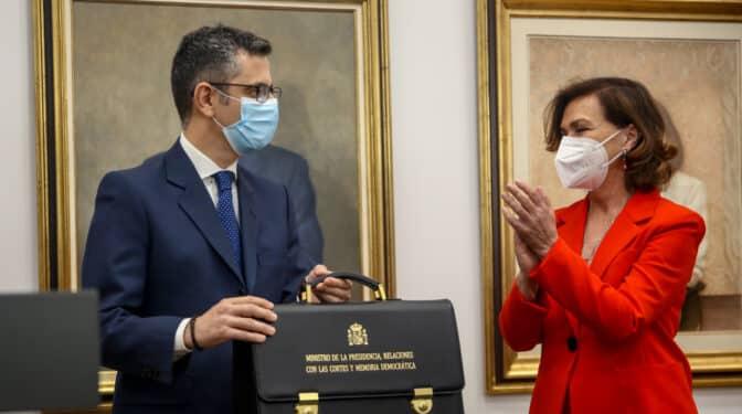 """Bolaños cree que la salida de Iván Redondo """"no es una cuestión trascendental"""""""