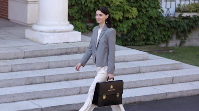 La ministra de Justicia, Pilar Llop, llega al Palacio de la Moncloa