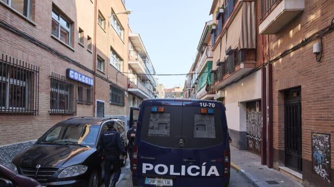 Un furgón de Policía Nacional