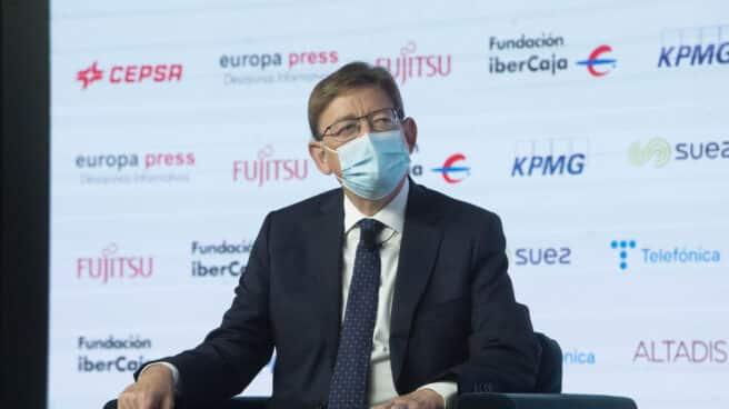 Ximo Puig, en el Desayuno Informativo de Europa Press.