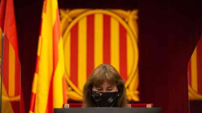 Laura Borrás, en el pleno sobre las fianzas del Tribunal de Cuentas.