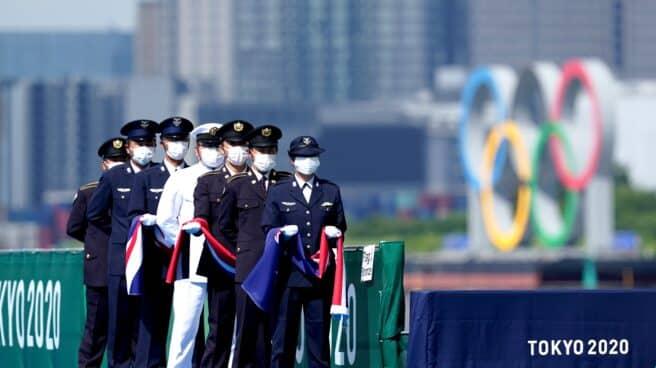 Ceremonia de entrega de medallas en los Juegos Olímpicos de Tokio.