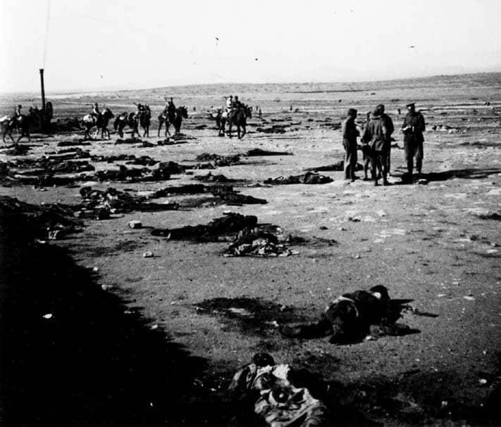 Meses después de la batalla de Annual (julio-agosto de 1921) los restos continúan dispersos.