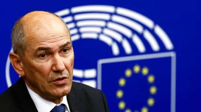 Janez Jansa, primer ministro esloveno, presenta el plan de la Presidencia de turno de la UE