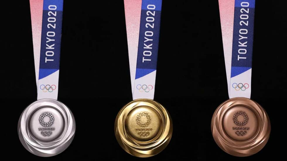 Las medallas de los Juegos Olímpicos de Tokio están fabricadas con basura tecnológica