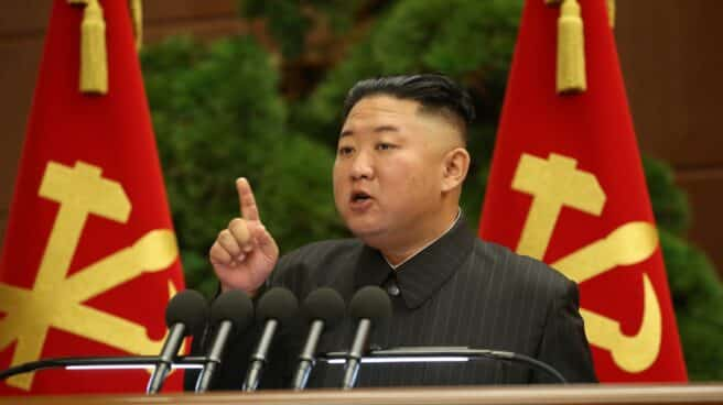 Kim Jong-un, líder de Corea del Norte, en un cónclave del Partido Comunista