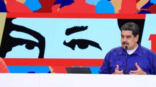 Nicolás Maduro, en un acto en la sede del PSUV