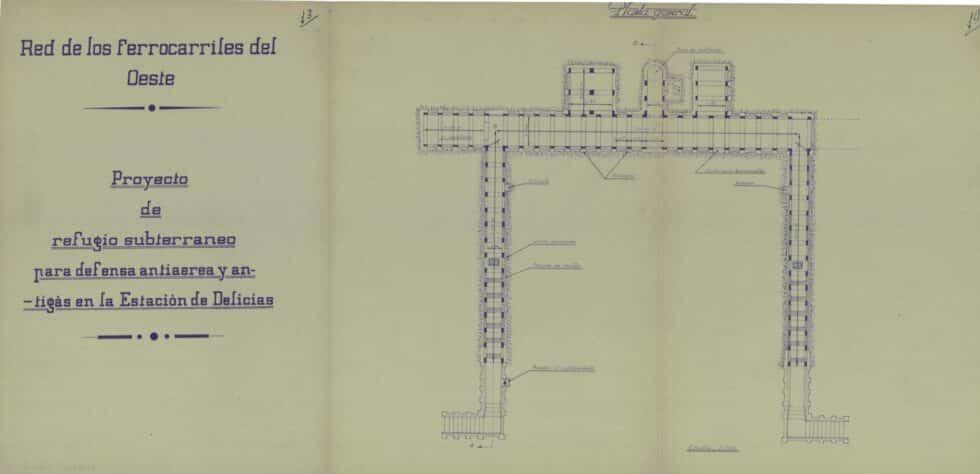 Plano de proyecto de refugio subterráneo