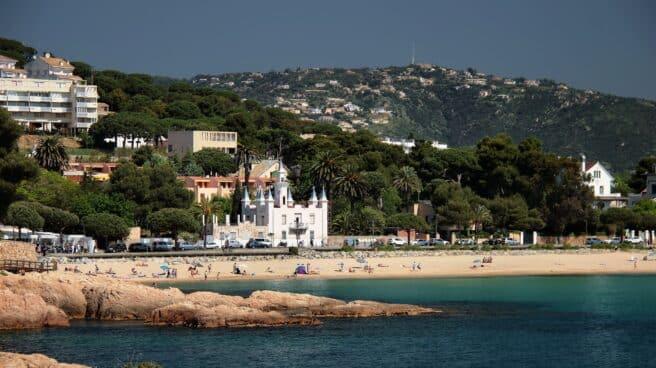 La playa de Sant Pol, en S'Agaró (Girona)