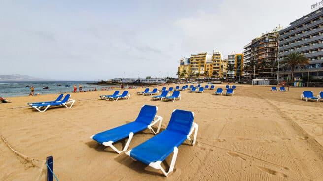 Hamacas en Playa de Las Canteras, Las Palmas