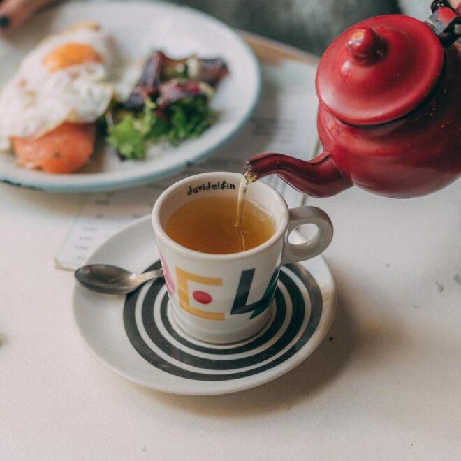 Imagen de un té recién hecho. Fotografía concedida por Crepería La Rue de Madrid.