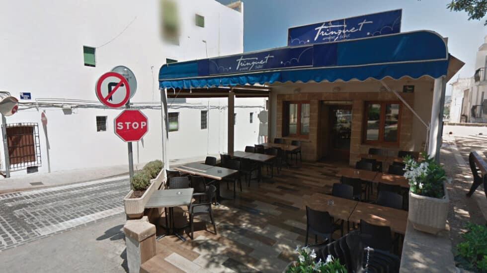 Terraza de el bar el Trinquet, en Jávea