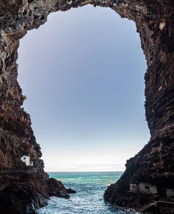 Vista desde las casas de Porís de Candelaria (Santa Cruz de Tenerife)