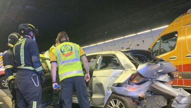 Herido muy grave un joven de 35 años en un accidente múltiple en Madrid