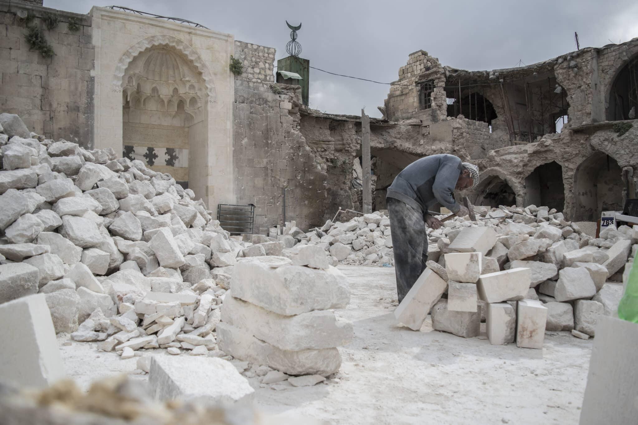 Albañil en Alepo Viejo